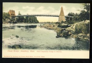 Amesbury, Massachusetts/MA/Mass Postcard, Chain Bridge