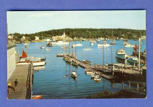 Boothbay Harbor,Maine/ME Postcard, Docks/Ships/Waterfront