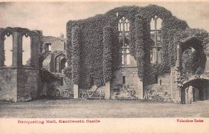 Banqueting Hall, Kenilworth Castle, England, Early Postcard, Unused