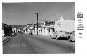 Santa Barbara California De La Guerre St Frasher Real Photo Postcard JF235092