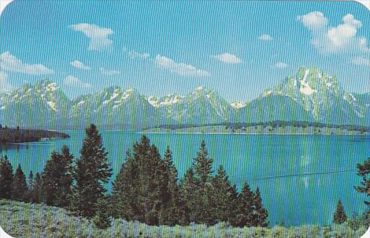 Wyoming Grand Teton National Park Majestic Teton Range Reflected In Jackson Lake