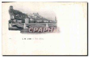 Postcard Old Bridge Ainay Lyons