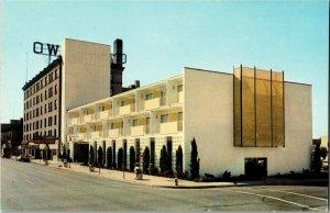 Owyhee Western Hotel & Motor Inn, 11th & Main Boise ID Vintage Postcard C54