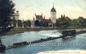 Zurich Swizerland, Schweiz, Svizzera, Suisse Schweiz, Landesmuseum u Bahnhof ...
