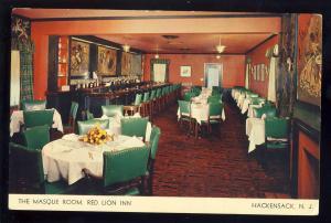 Hackensack, New Jersey/NJ Postcard, Masque Room, Red Lion Inn