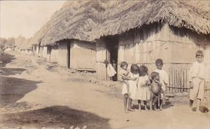 Panama Arraijan Street Scene With Children Real Photo