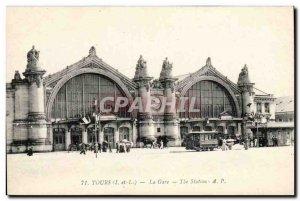 Tours - La Gare - Old Postcard