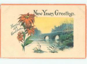 Divided-Back NEW YEAR SCENE Great Postcard AA1980