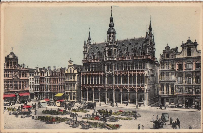 BELGIUM BRUSSELS GRAND PLACE AND KING`S HOUSE EXPOSITION UNIVERSELLE 1958
