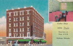 HOLDREGE, Nebraska, 1930-1940's; Coffee Shop, Hotel Dale