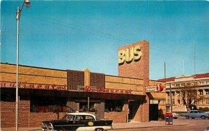 Autos Continental Bus Terminal Wichita Kansas Mothershed Inc Postcard 11018