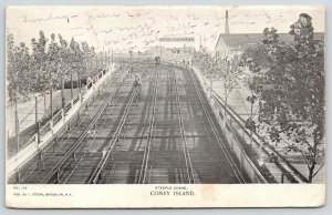 Coney Island NY~Steeple Chase All Down Hill From Here~1905 UDB B&W Postcard
