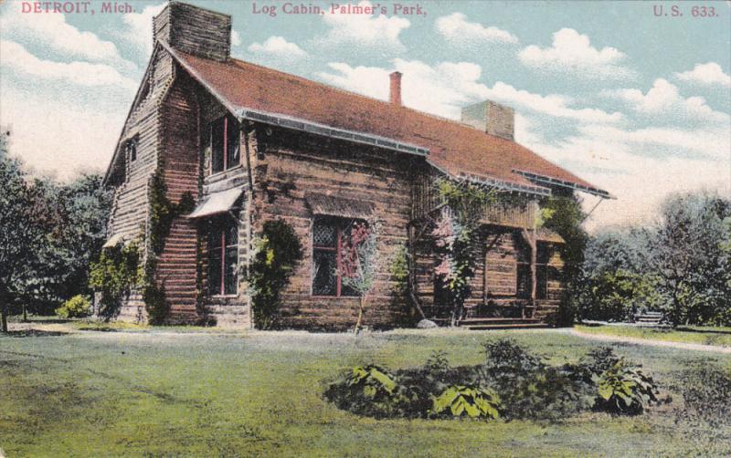 DETROIT, Michigan, 1900-1910's; Log Cabin, Palmer's Park