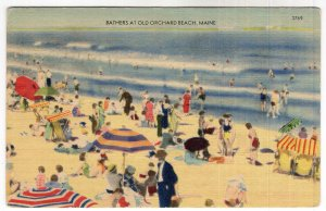 Bathers At Old Orchard Beach, Maine