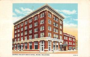 Miami Oklahoma Holveys Main Hotel Exterior Street View Antique Postcard K20597
