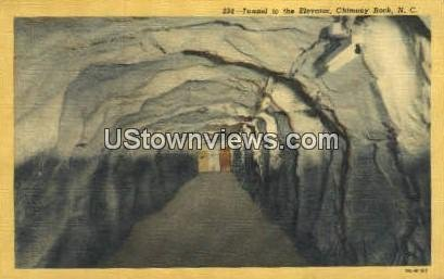 Tunnel leading to Elevator in Chimney Rock, North Carolina