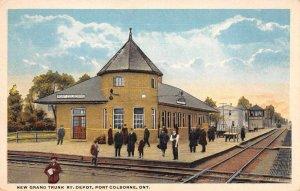 Port Colborne Ontario Canada New Grand Trunk Railway Depot Postcard AA4253