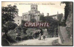 Royat les Bains - Apse of the & # 39Eglise - Old Postcard