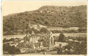 UK, United Kingdom, Tintern Abbey, 1948 used Postcard