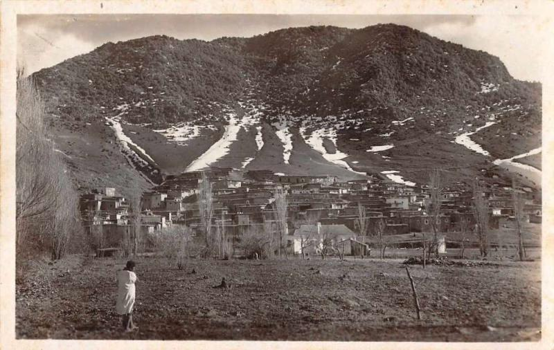 Azrou Morocco Scenic View Real Photo Antique Postcard J74329