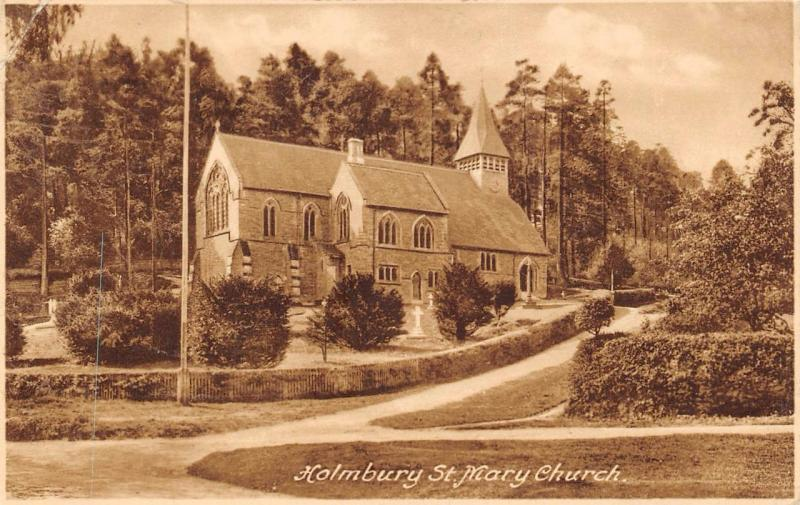 Vintage 1937 Postcard HOLMBURY Surrey St. Mary Church Frith's Series