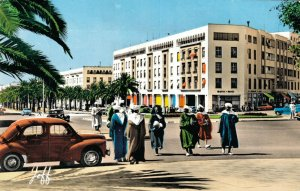 Morocco Rabat Station Place And Mohammed V Avenue RPPC 06.57