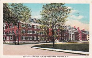 HANOVER, New Hampshire, 1900-10s; Massachusetts Row, Dartsmouth College