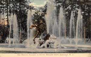 The Neptune Fountain in Action Georgian Court, Lakewood, N.J., USA Postcard 1912