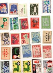 25 Vintage Matchbox Lid Labels All EX or Mint RARE Bundle