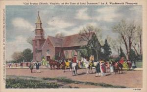 Virginia Williamsburg Old Bruton Church At Time Of Of Lord Dunmore Curteich