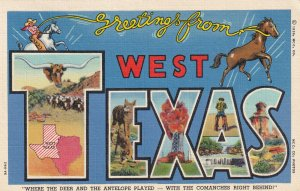 Large Letter WEST TEXAS, PU-1939