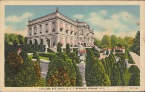 The Elms residence of E J Berwind Newport Rhode Island linen