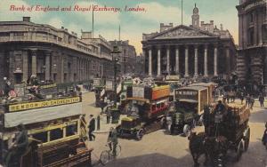 Bank Of England And Royal Exchange, London, England, UK, 1900-1910s