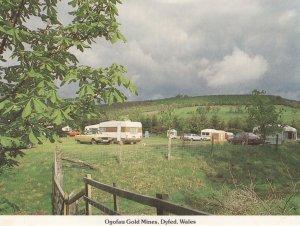 Ogofau Gold Mines Dyfed Wales 1980s Caravan Club Postcard