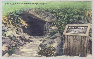 The Lost River @ Natural Bridge Virginia unused c1930's