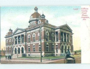 Pre-1907 COURTHOUSE SCENE Anniston Alabama AL AF0318