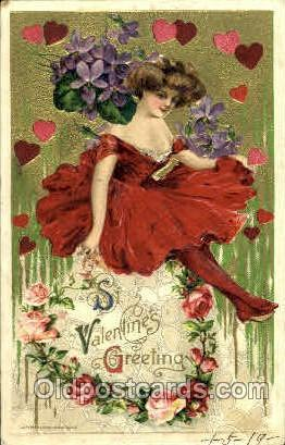Artist Signed Schmucker, John Winsch 1910, postcard Post Card St. Valentines ...