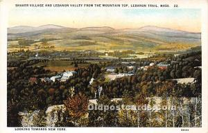 Old Vintage Shaker Post Card Village and Lebanon Valley from the Mountain Top...