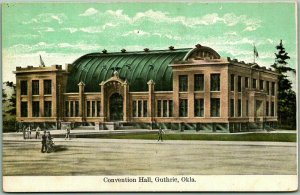 1910s Guthrie, Oklahoma Postcard Convention Hall Building Street View - Unused