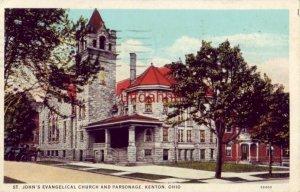 ST. JOHN'S EVANGELICAL CHURCH AND PARSONAGE, KENTON, OH 1935