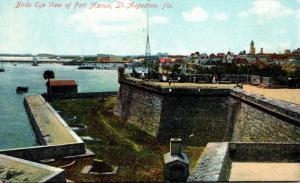 Florida St Augustine Fort Marion Birds Eye View