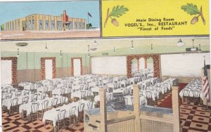 Indiana Whiting Vogels Restaurant Main Dining Room 1951 sk3566