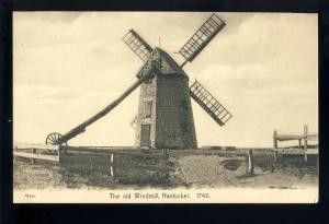 Nantucket, Massachusetts/Mass/MA Postcard, The Old Windmill, Cape Cod