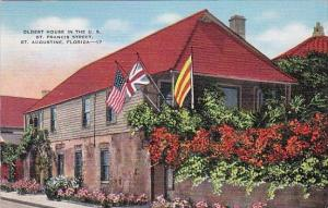 Oldest House In The U S Saint Francis Street Saint Augustine Florida 1940