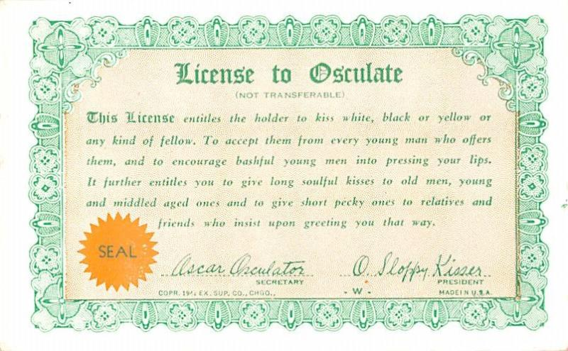 , License to Osculate, exb500028