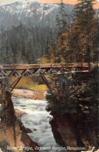 Canada Upper Bridge , Capilano Canyon, Vancouver, B.C. 1933