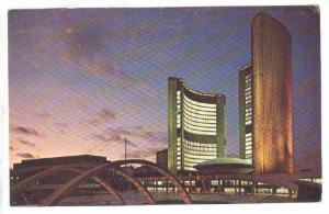 New City Hall Illuminated, Toronto, Ontario, Canada, PU-1967
