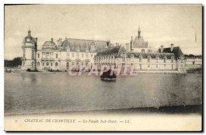 Old Postcard Chateau de Chantilly The Facade South West