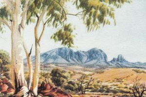 Central Australia , 1940-60s ; The Plains, Mt. Sonder , Aboriginal Artist: Al...
