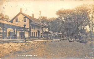 Warner NH Railroad Station Train Depot 1916 RP Postcard